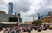 Melbourne Cup Day at the Federation square