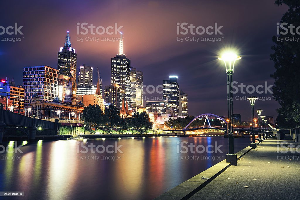 Melbourne Evening stock photo