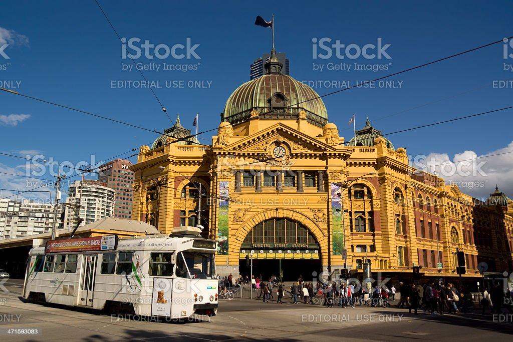 Melbourne - Flinders St Station stock photo