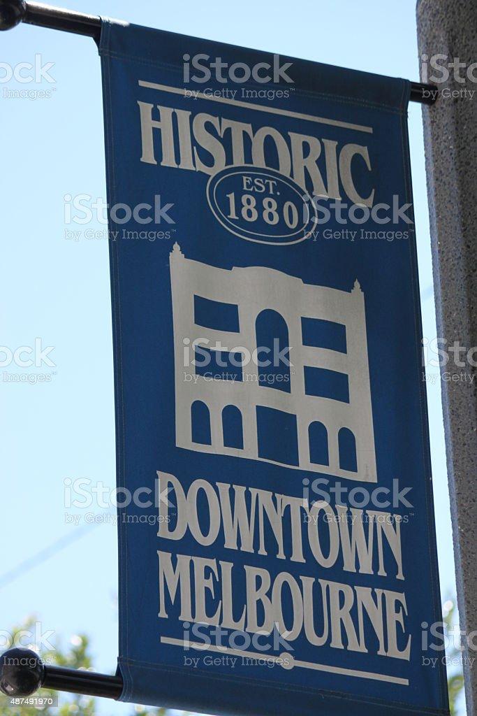 Melbourne Florida sign stock photo