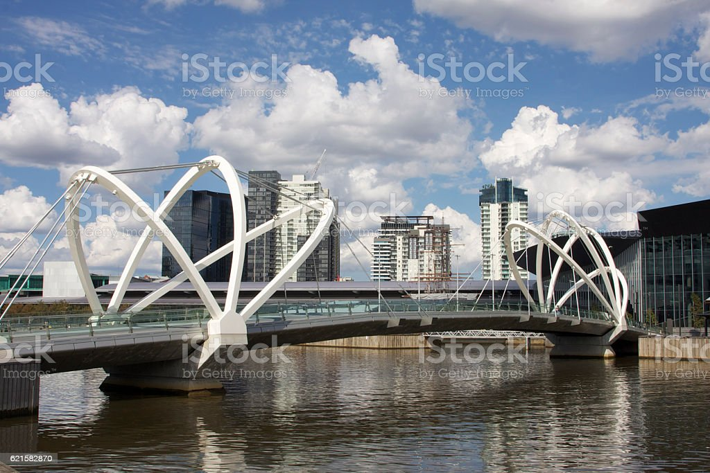 Melbourne Footbridge stock photo