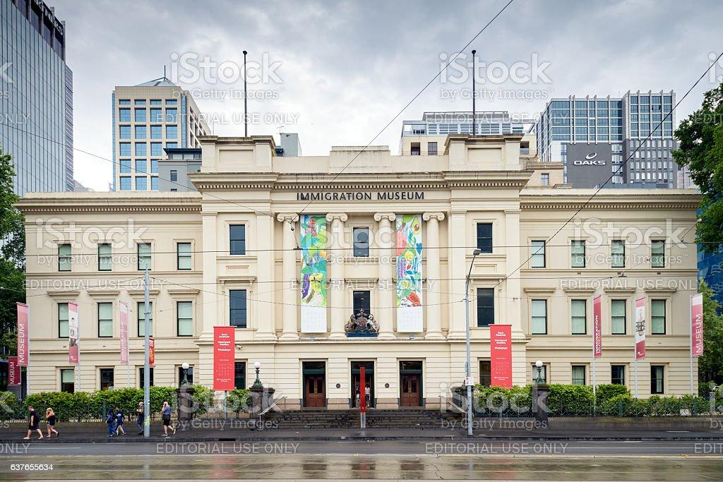 Melbourne Immigration Museum stock photo