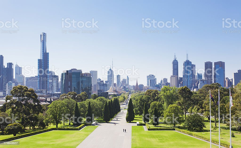 Melbourne in the daytime stock photo