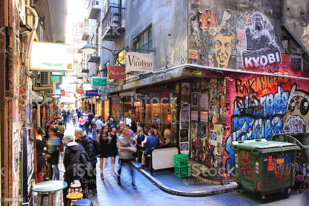 Melbourne lane culture stock photo