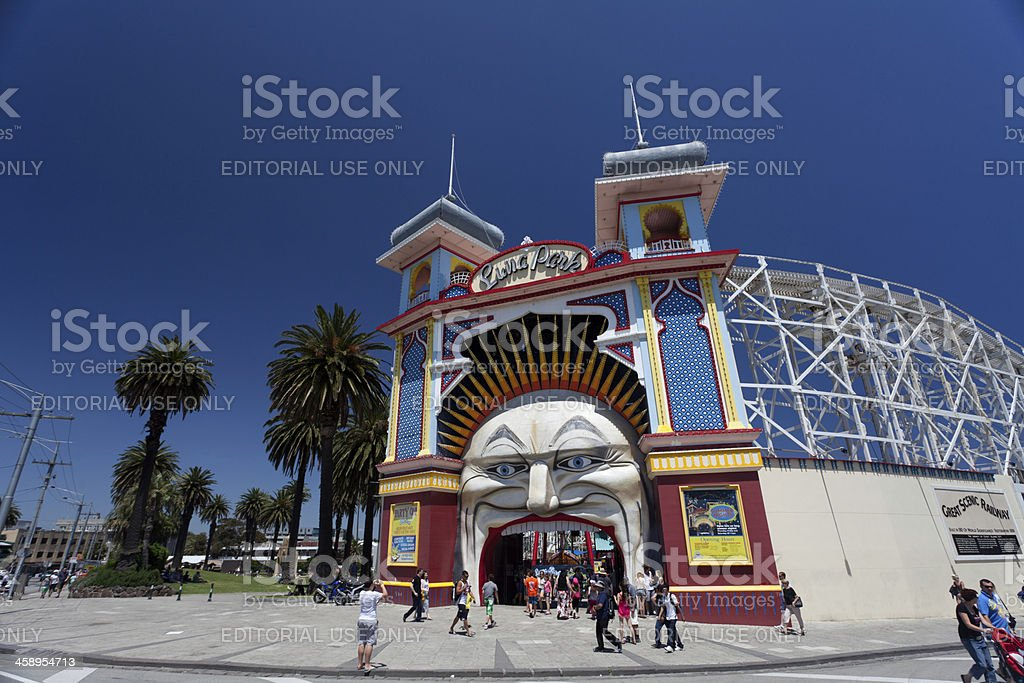 Melbourne Luna park stock photo