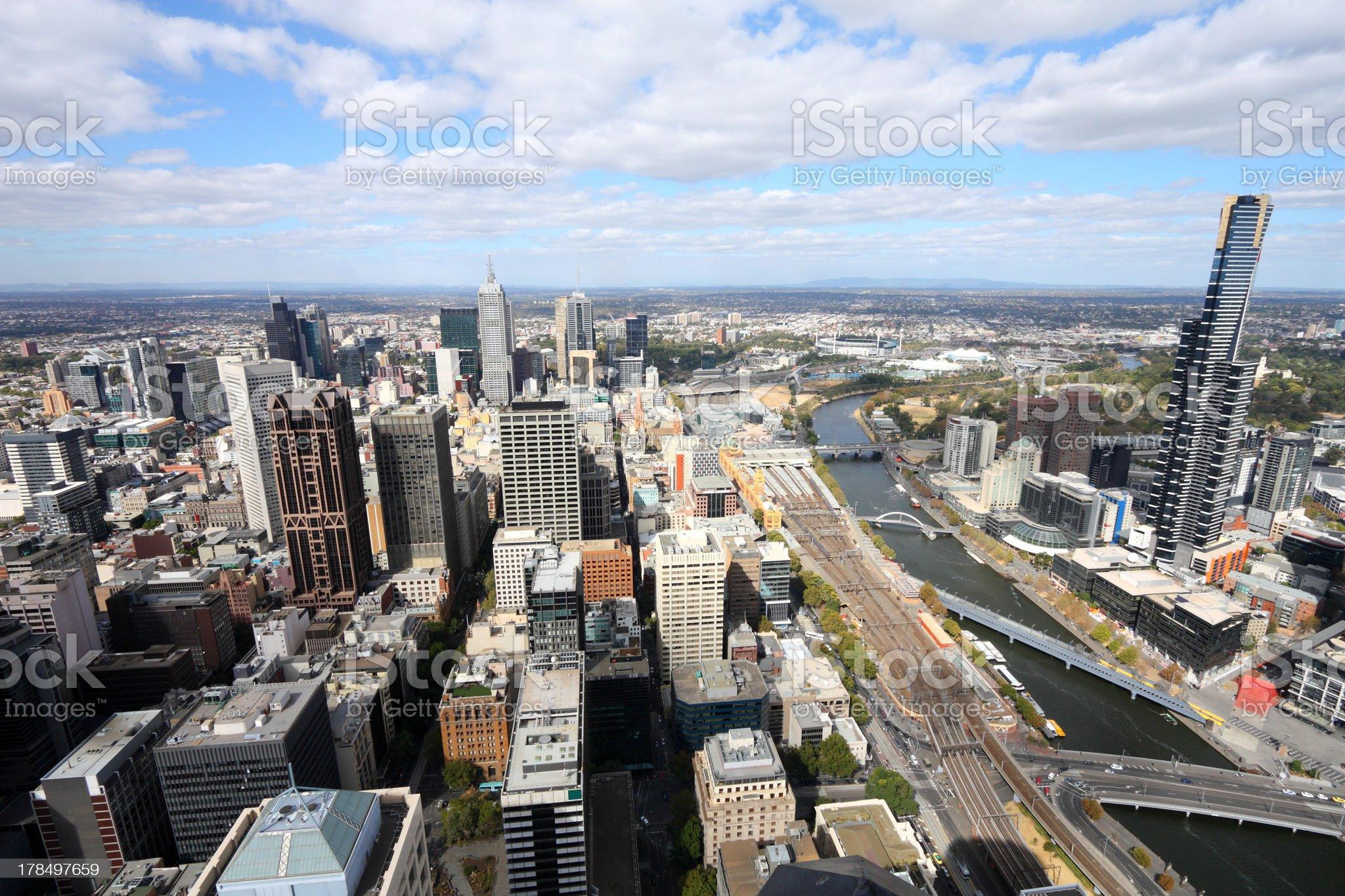 Melbourne - modern city royalty-free stock photo