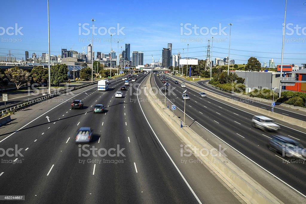 Melbourne motorway streams stock photo