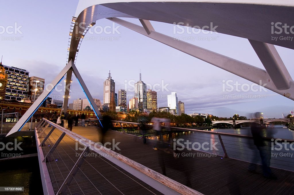 Melbourne Night stock photo