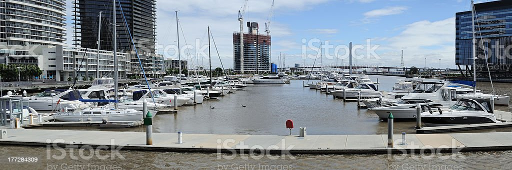 Melbourne panorama at Yarra royalty-free stock photo