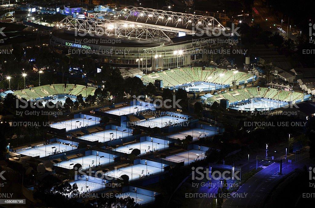 Melbourne Park Tennis Courts stock photo
