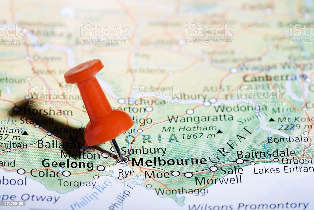 Melbourne Pin Horiz royalty-free stock photo