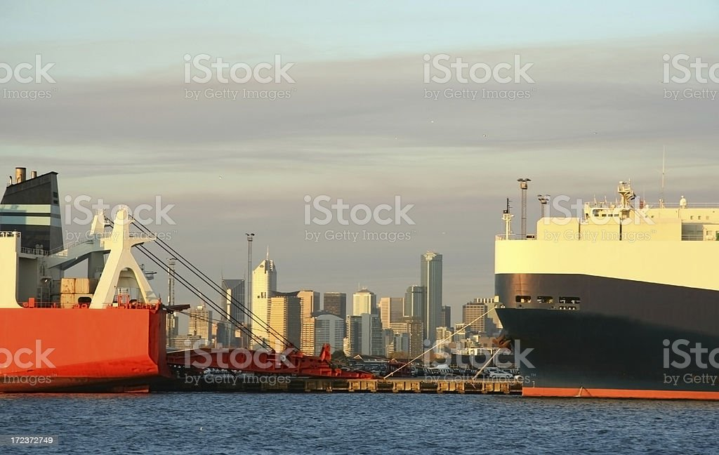 Melbourne Port royalty-free stock photo
