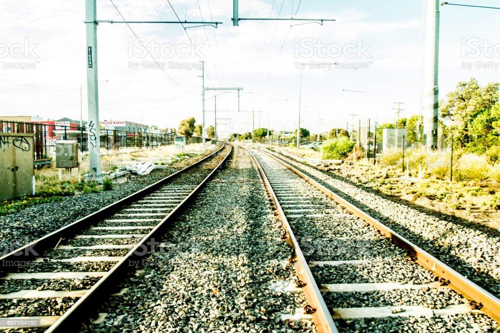 Melbourne Railway stock photo