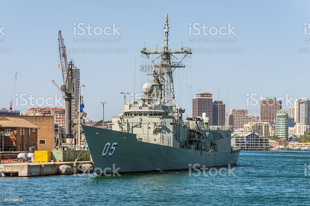 HMAS Melbourne (III) Royal Australian Navy docked in Sydney Harb stock photo