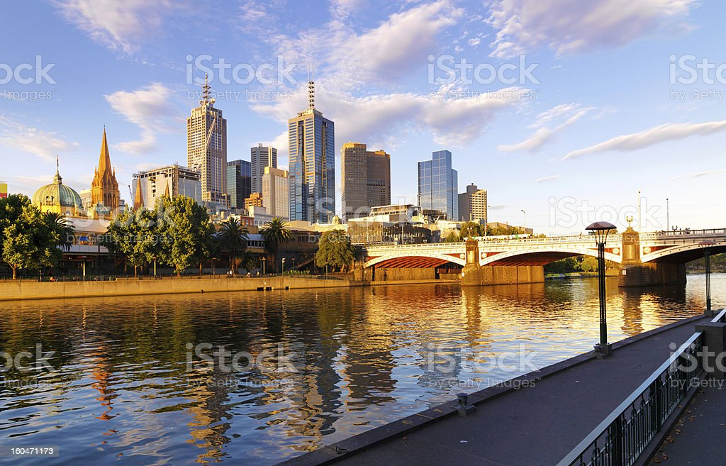 Melbourne skyline royalty-free stock photo