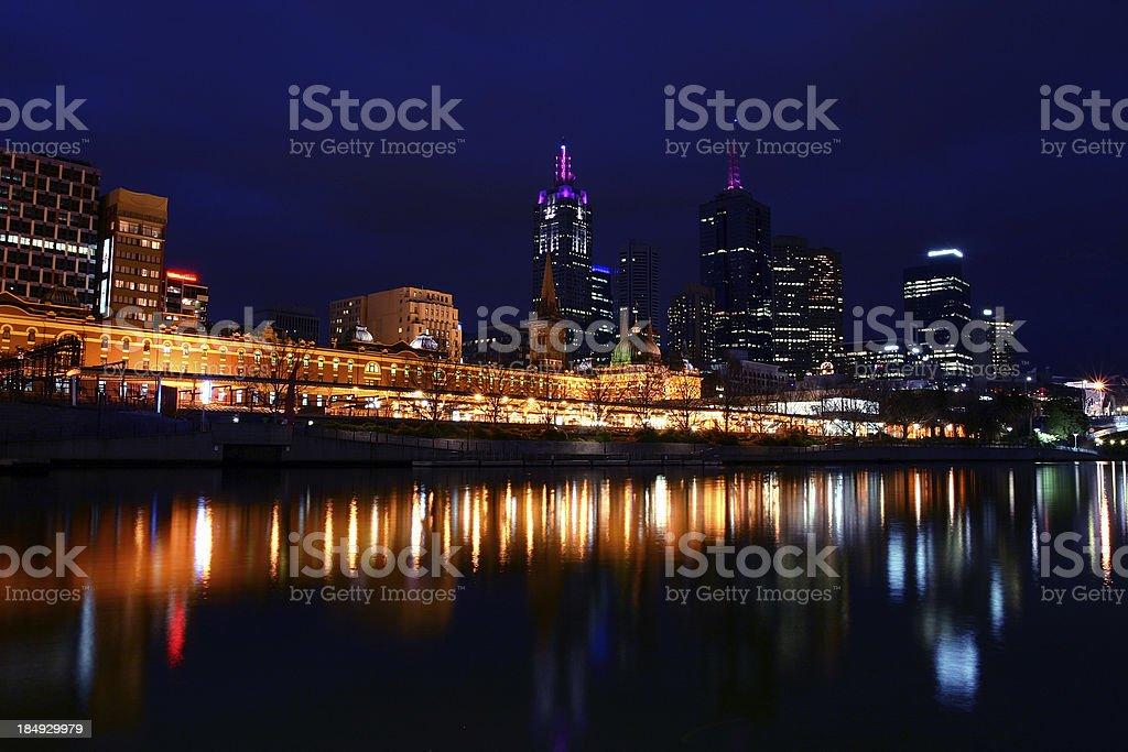 melbourne skyline royalty-free stock photo