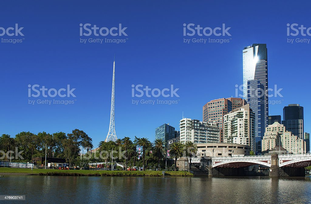 Melbourne skyline stock photo