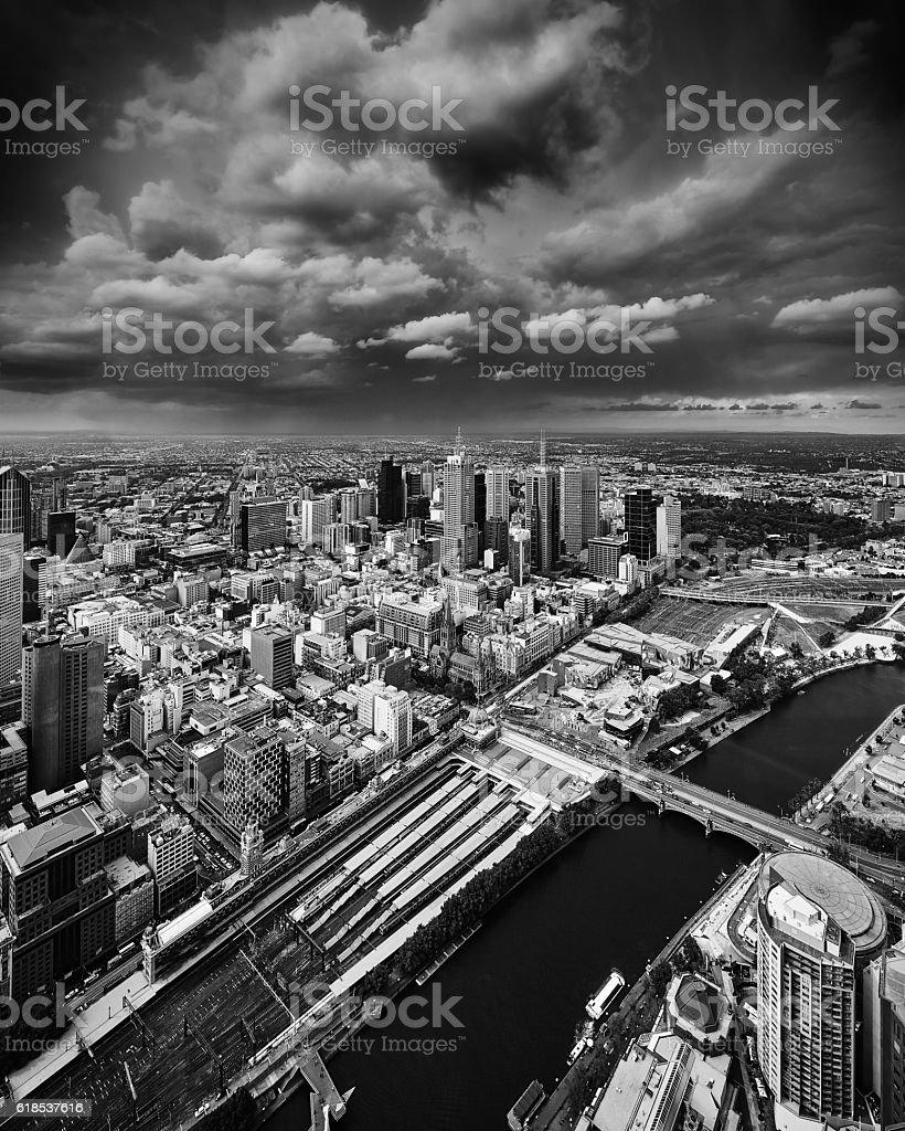 Melbourne Skyline stock photo