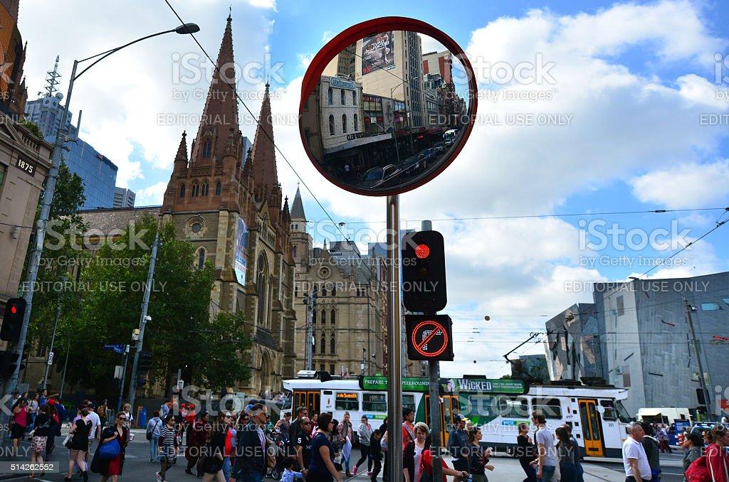 Melbourne - Street Scene stock photo