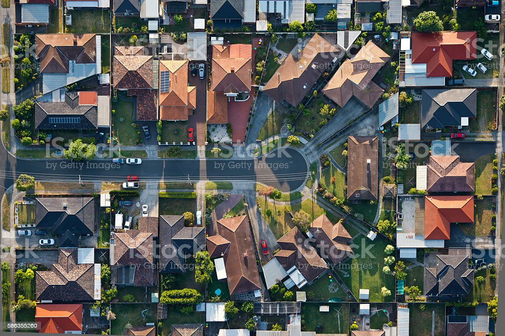 Melbourne suburbs stock photo