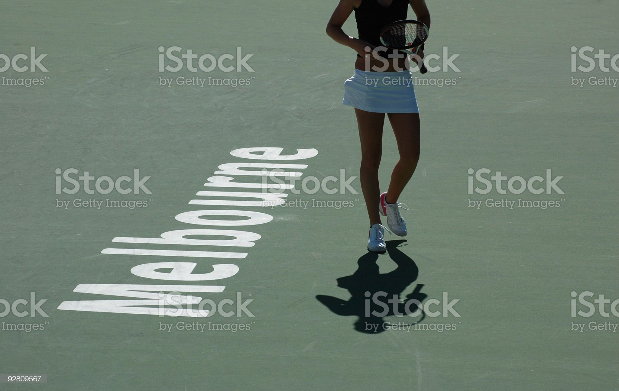 Melbourne Tennis royalty-free stock photo