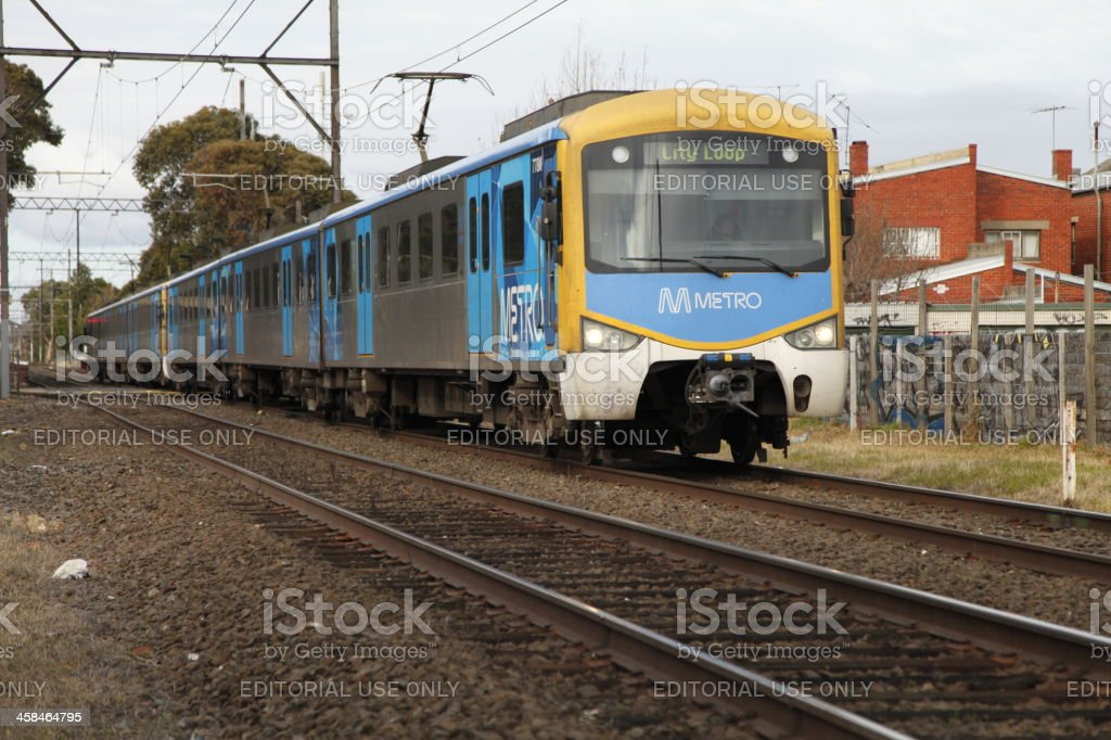 Melbourne Train royalty-free stock photo