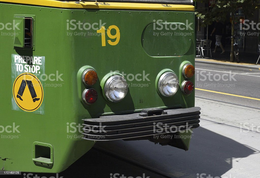 Melbourne Tram 1 royalty-free stock photo