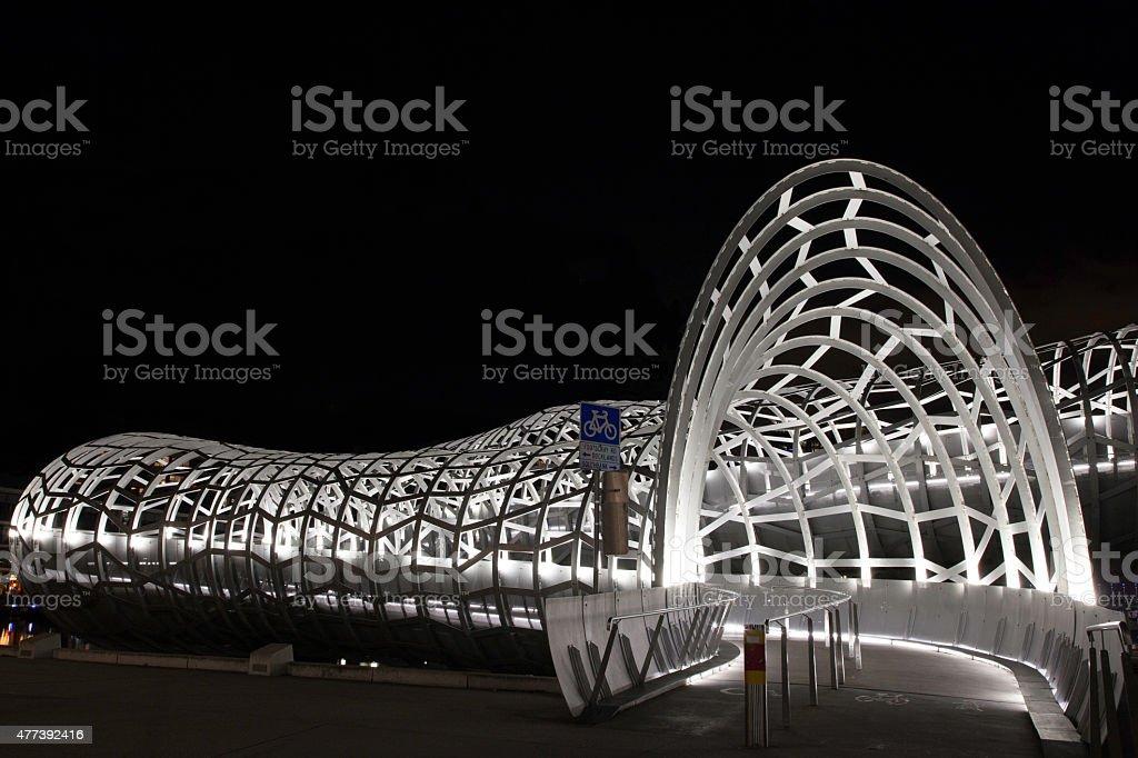 Melbourne - Webb Bridge stock photo