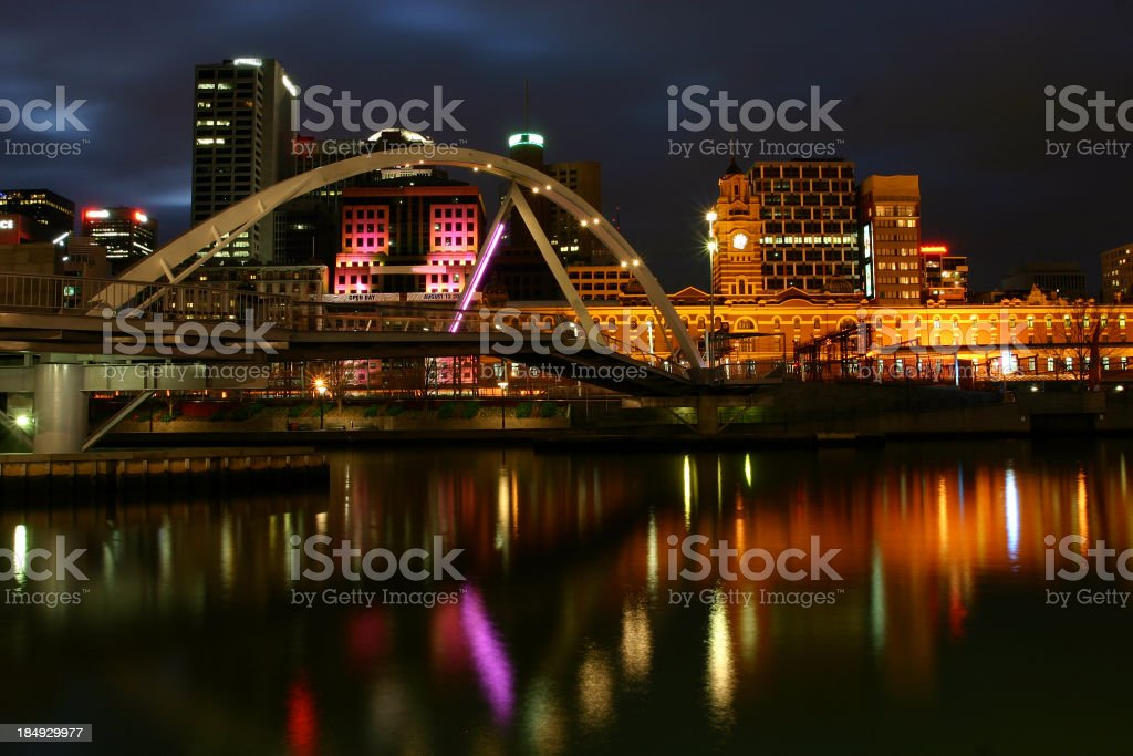 melbourne, with bridge royalty-free stock photo