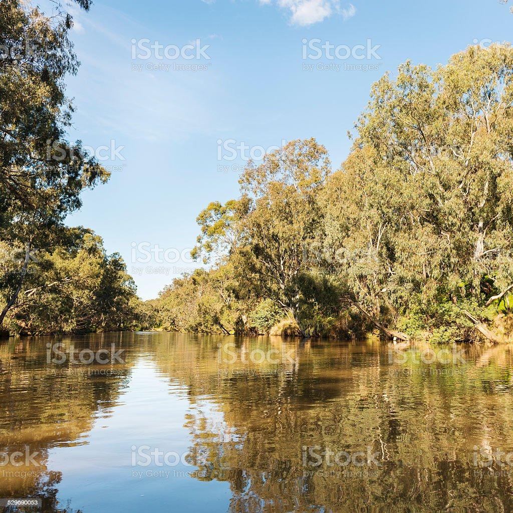 Melbourne Yarra River stock photo