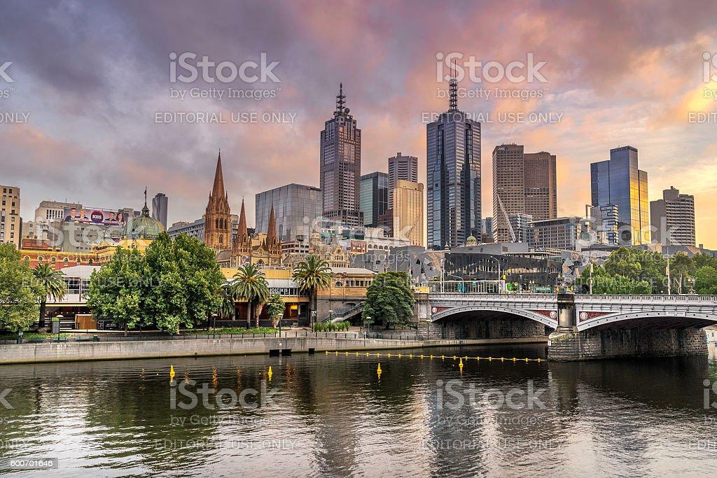 Melbournes Central Business District stock photo