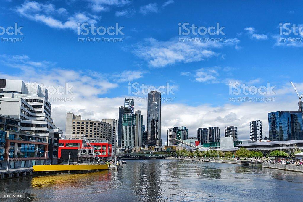 Melbournes River Yarra stock photo
