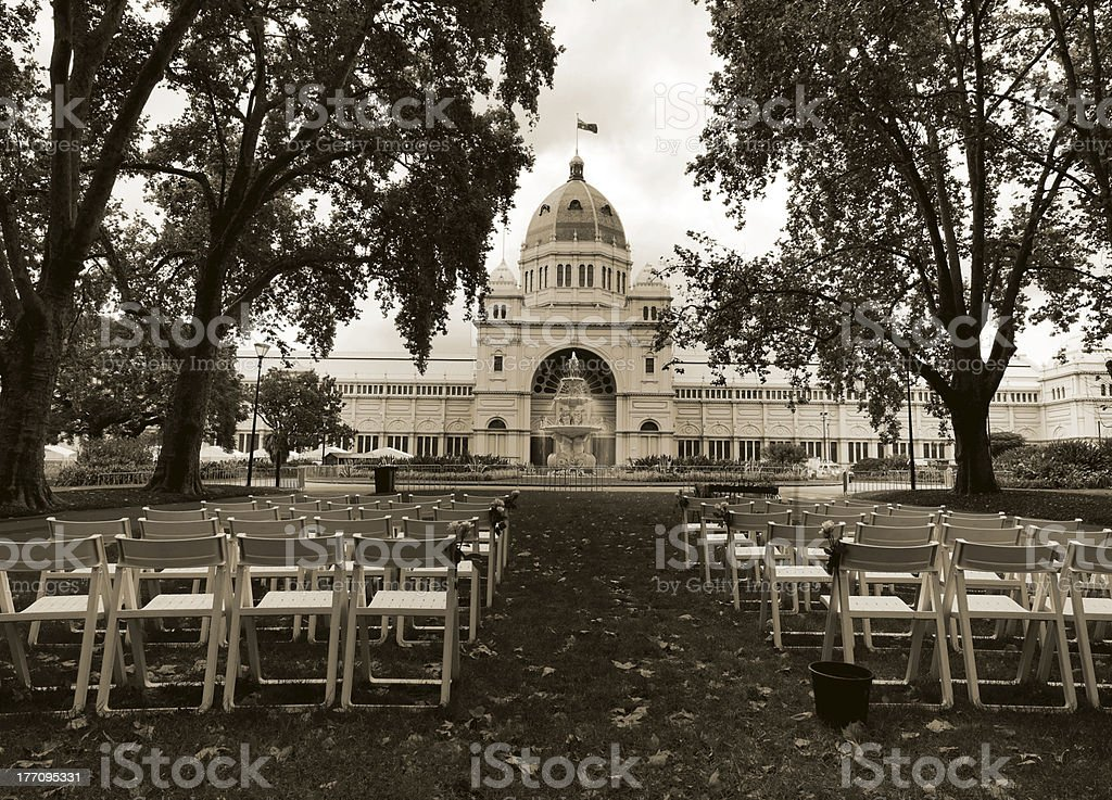 Melbourne's Royal Exhibition Buildings royalty-free stock photo