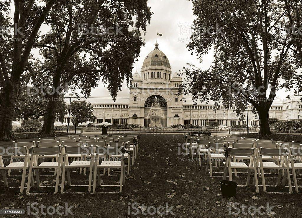 Melbourne's Royal Exhibition Buildings stock photo