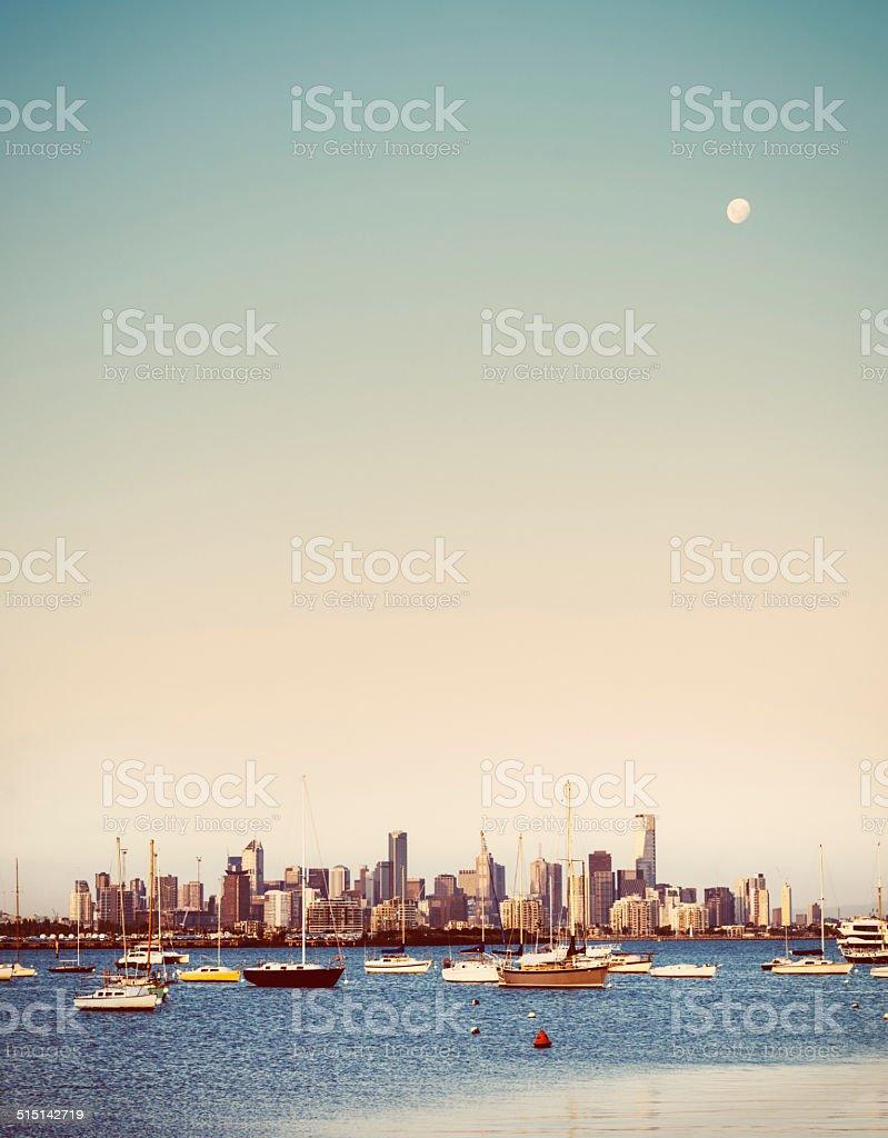 Melbourne's Skyline stock photo
