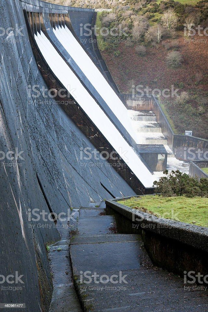 Meldon Reservoir Dartmoor after heavy rain stock photo
