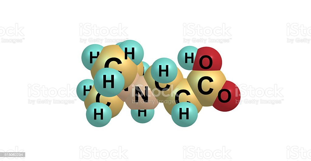 Meldonium molecular structure isolated on white stock photo