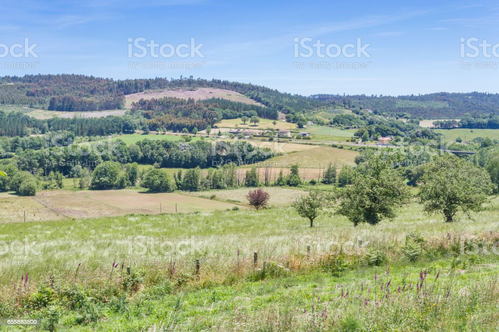 Melide's land stock photo