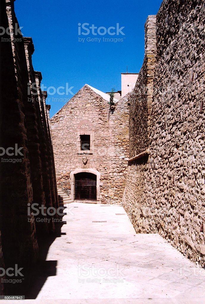 Melilla, Spain: alley in the old town stock photo