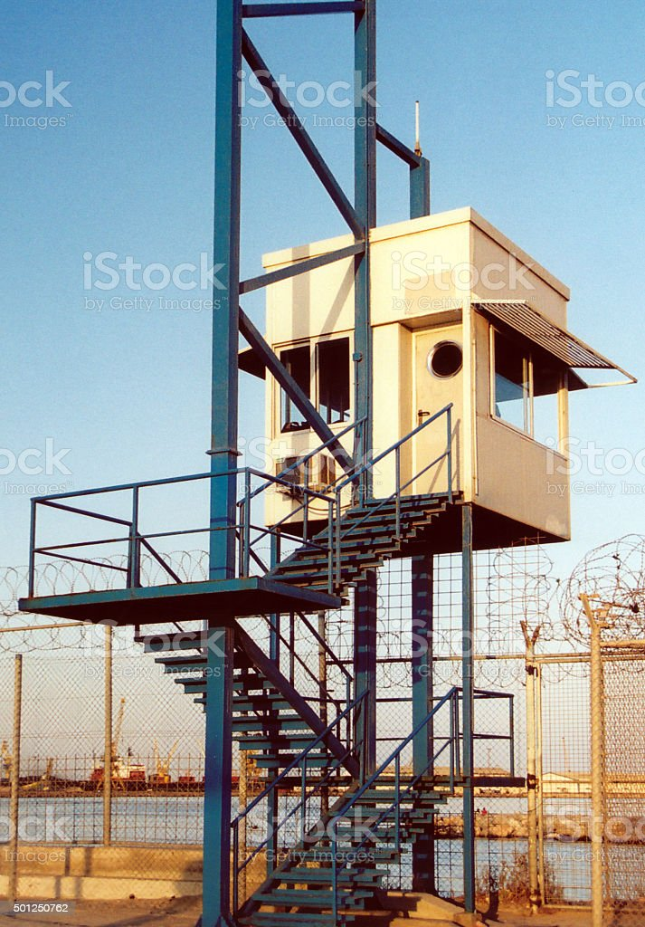 Melilla, Spain: border lookout tower stock photo