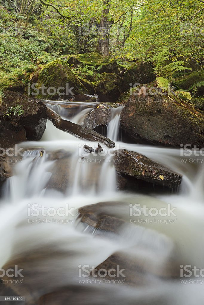 Melincourt Brook Waterfall, Brecon Beacons royalty-free stock photo