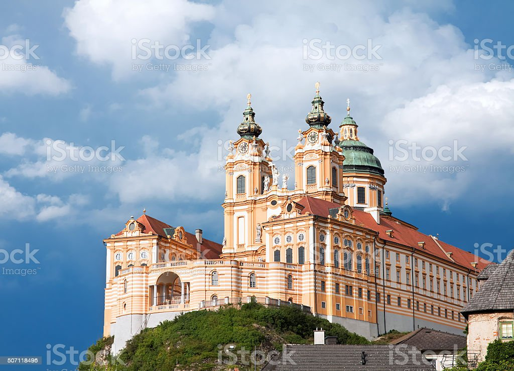 Melk abbey, Lower Austria, Austria stock photo