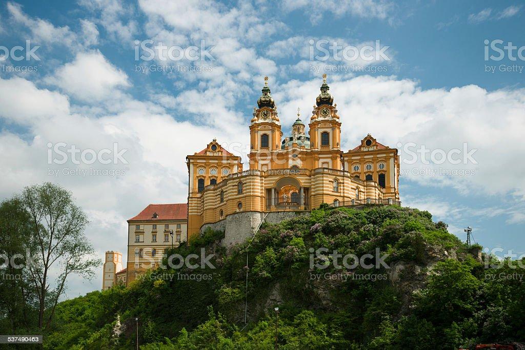 Melk monastery, Austria stock photo