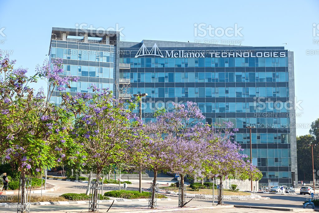 Mellanox Technologies office building headquartered in Yokneam stock photo