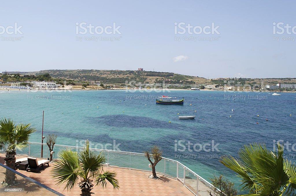 Mellieha Bay stock photo
