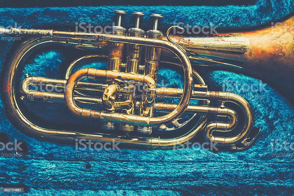 Mellophone royalty-free stock photo