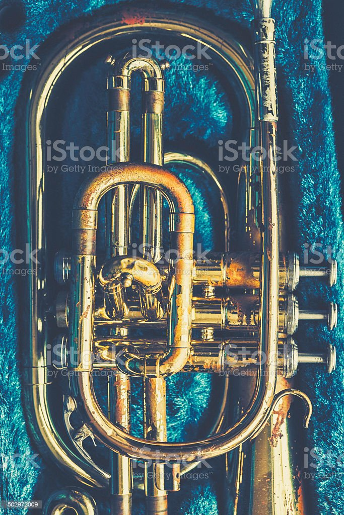 Mellophone stock photo