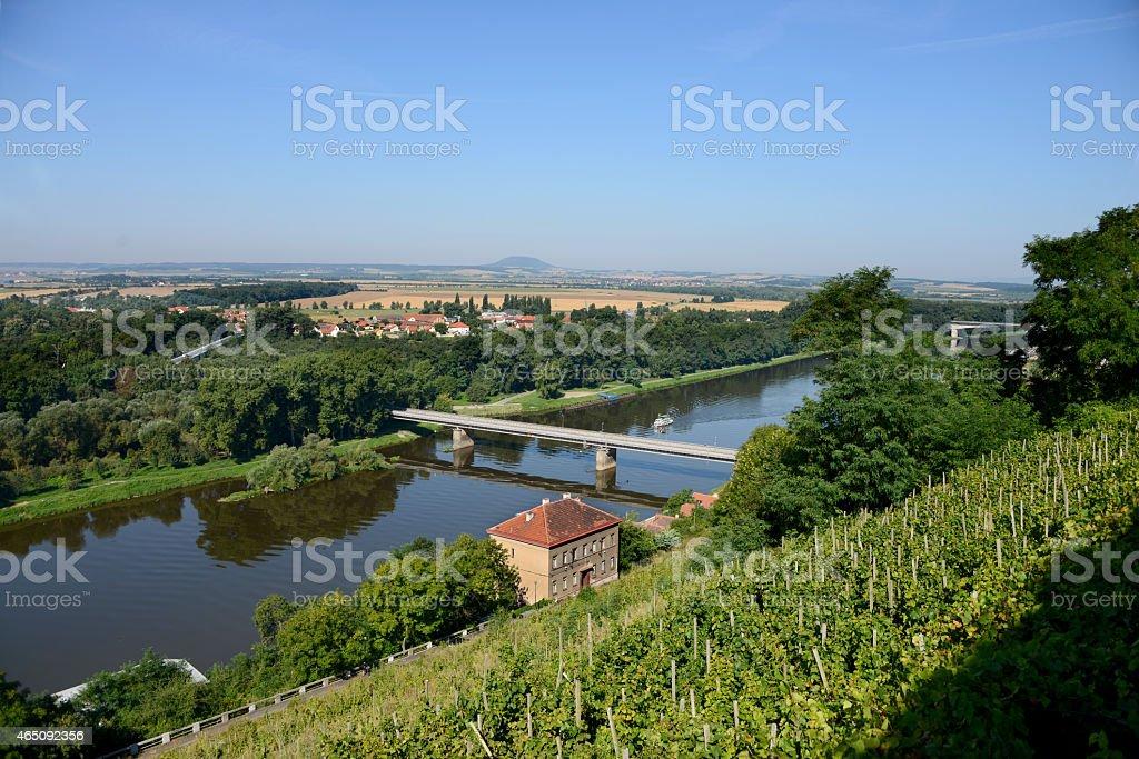 Melnik vineyard stock photo