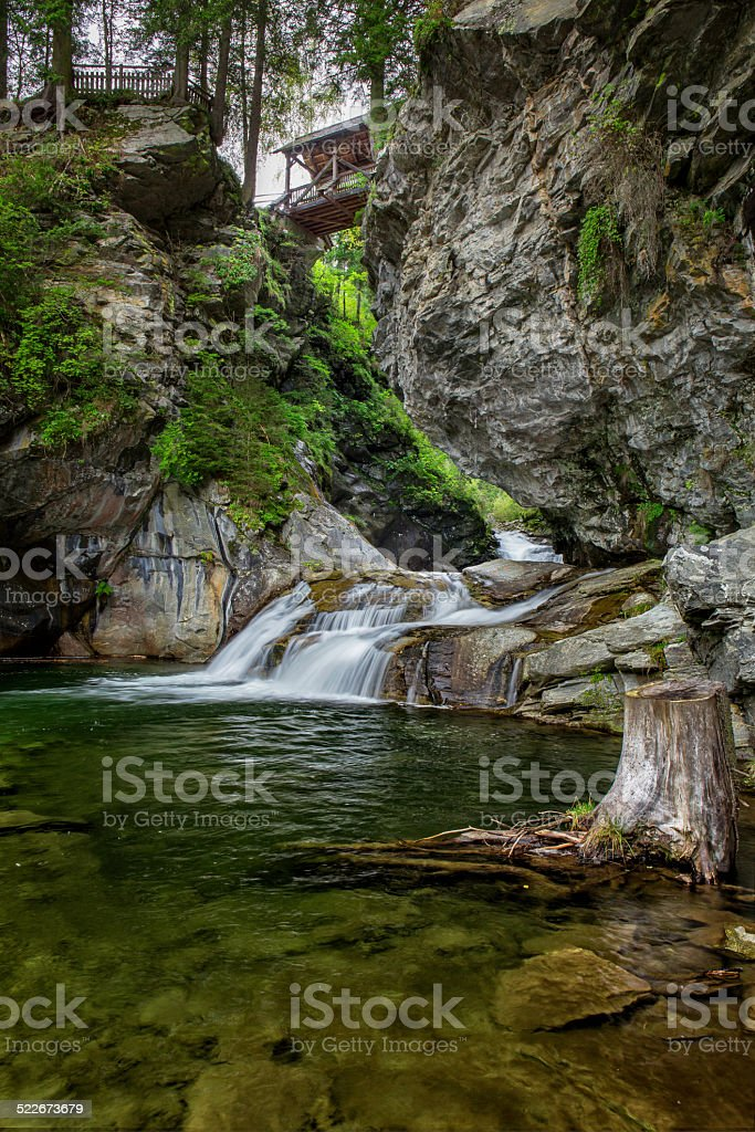 Melnikfall  - Waterfall in Carinthia,  Austrian alps stock photo