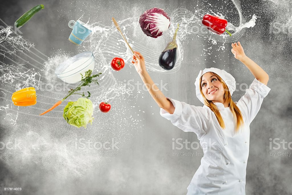 Melody in cooking stock photo